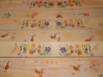 bancute lemn pictare