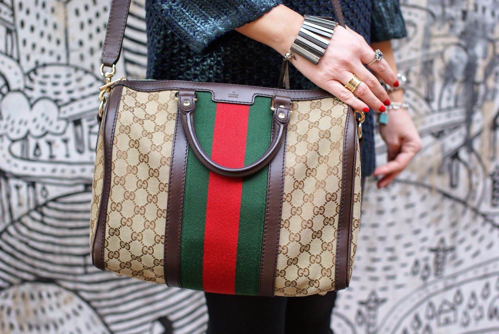 Gucci boston bag, Vitti Ferria Contin bracelet, Fashion and Cookies, fashion blogger