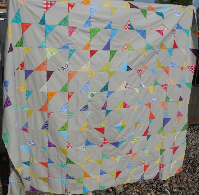 stitch and flip quilt top