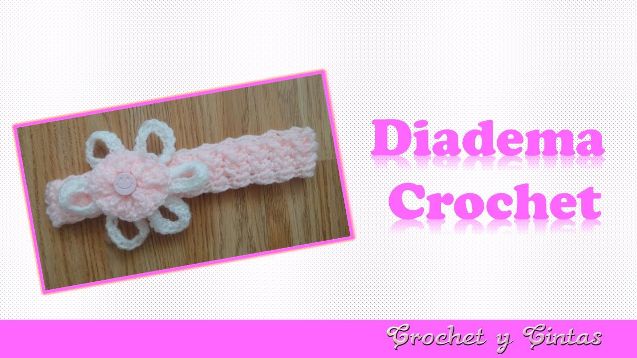 Diadema crochet (ganchillo) para niña