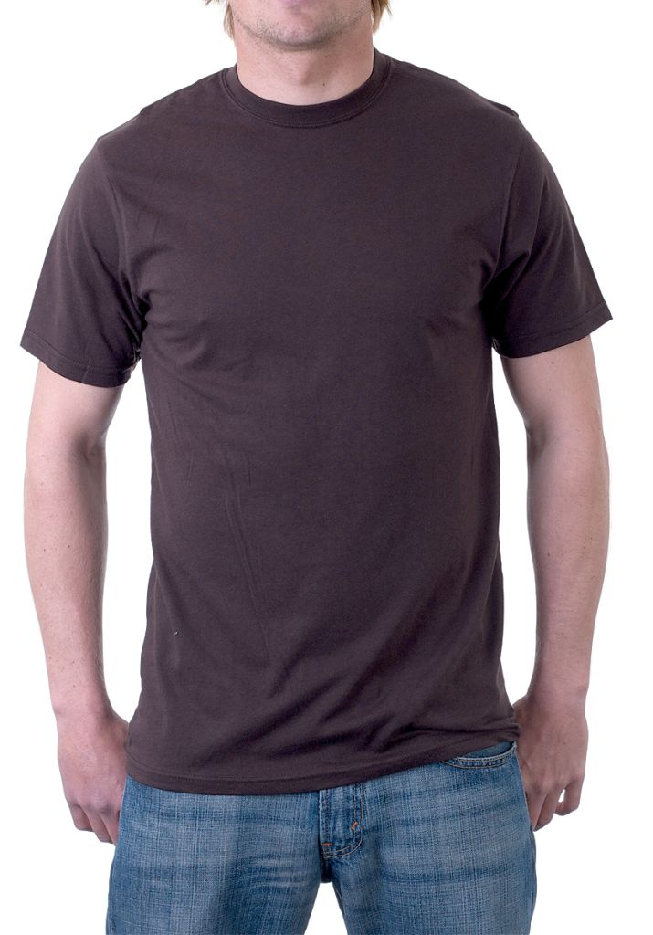 Plain Dark Brown T-Shirt Also in Assorted Colours