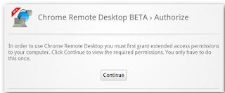 Authorize remote desktop using chrome