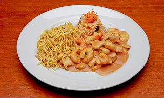 Receita Almoço de páscoa estrogonofe de camarão