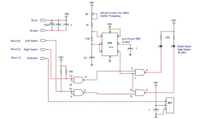 Proximity Detector Based 555 Ir Circuit Diagram Schematic