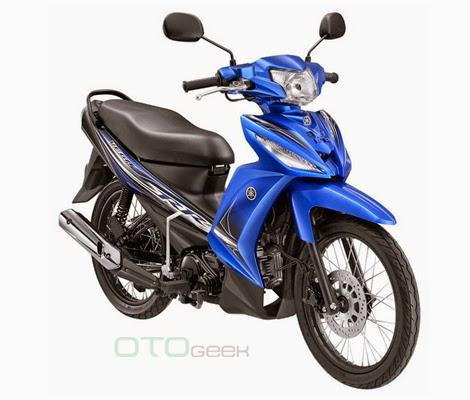 gambar motor yamaha vega rr biru