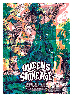 INSIDE THE ROCK POSTER FRAME BLOG  Queens Of The Stone Age Austin