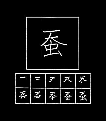 kanji ulat sutera