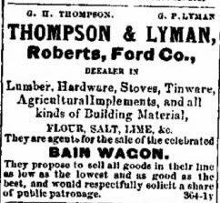 Thompson & Lyman 1872 Ad