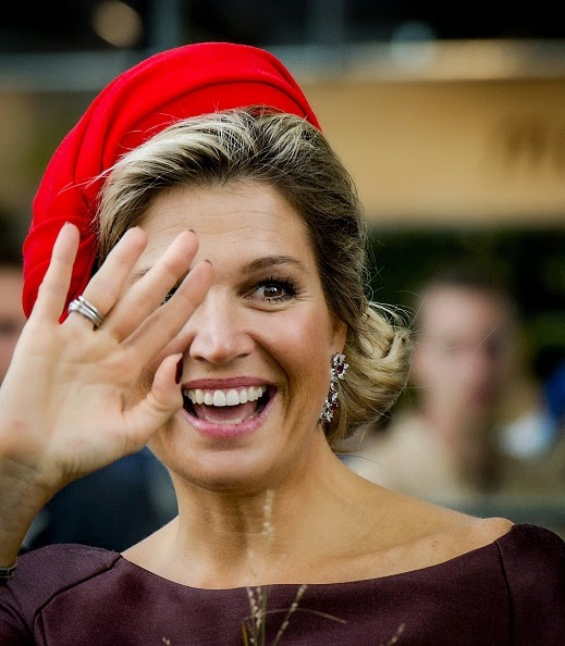 Dutch Queen Maxima attends the opening of the Rotterdam Market Hall, the first Dutch covered fresh market hall in Rotterdam, The Netherlands,on 01.10.2014. The unique feature of this hall is the combination of a market and housing.