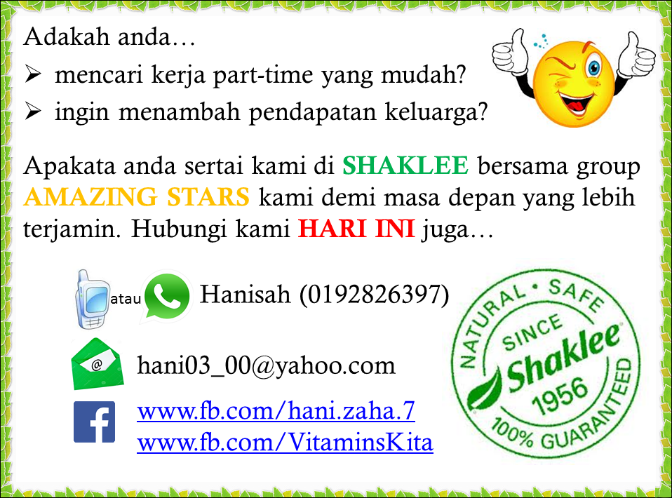 part time shaklee