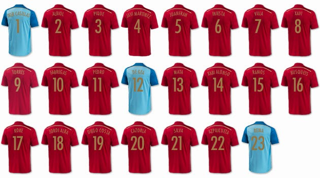Spanish Football National Team World Cup 2014
