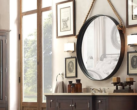 Rope mirrors shop or diy completely coastal for Restoration hardware round mirror