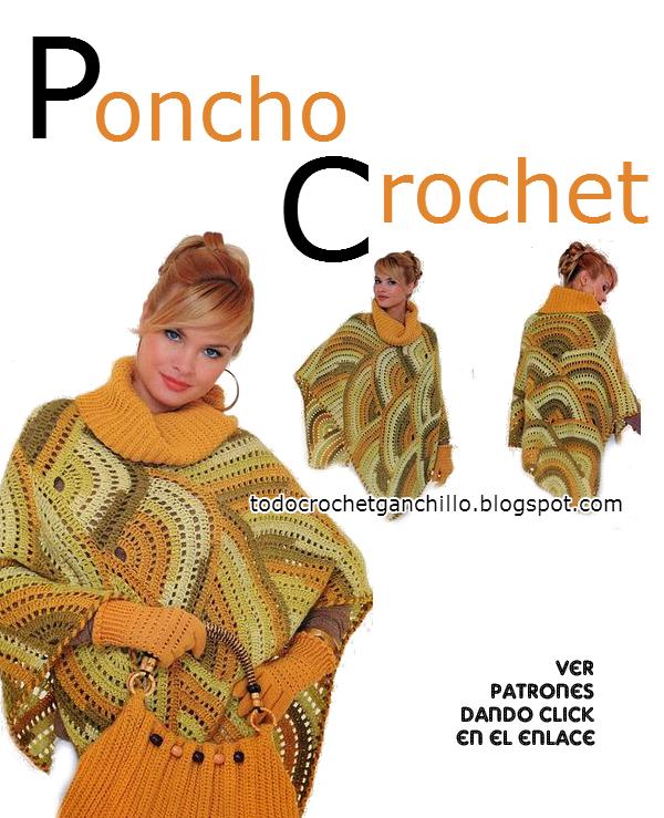 Patrones de poncho y cartera crochet | Todo crochet