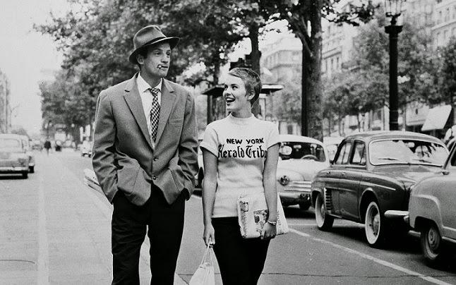 al final de la escapada jean-paul belmondo jean seberg new yorh herald tribune michel patricia Jean-Luc Godard french new wave nouvelle vague
