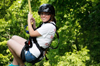 Zipline fun near Pigeon Forge