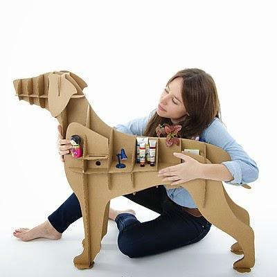 Perro Labrador Estantería de Cartón