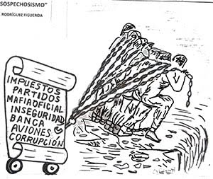 La caricatura de El Quetzal