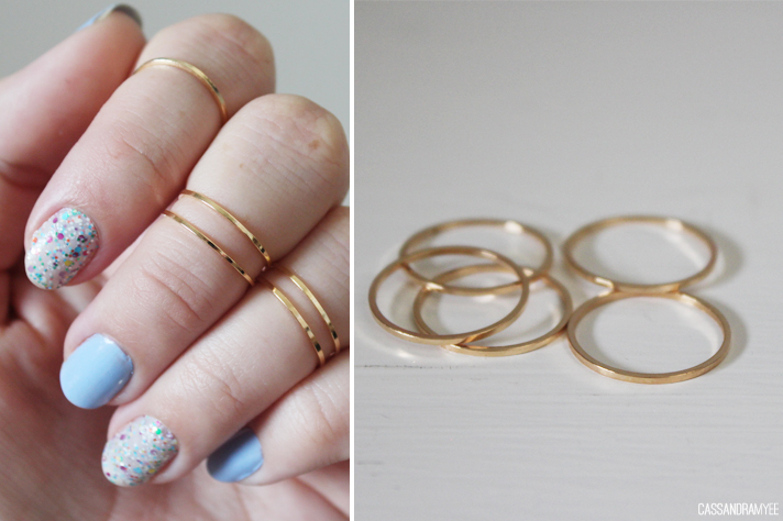 cheap ebay finds gold silver midi above knuckle rings
