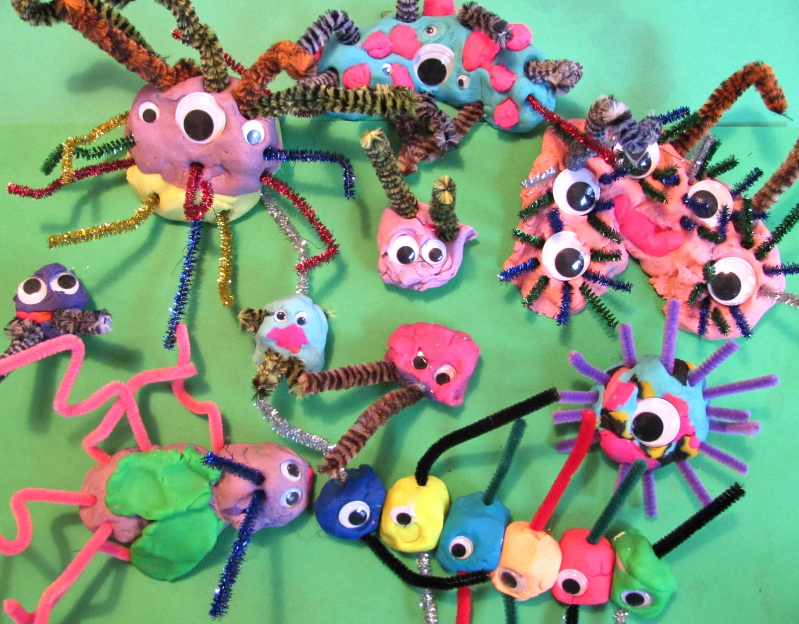 Pipe Cleaners Googly Eyes and Play Dough  sc 1 st  The Chocolate Muffin Tree & The Chocolate Muffin Tree: Pipe Cleaners Googly Eyes and Play Dough