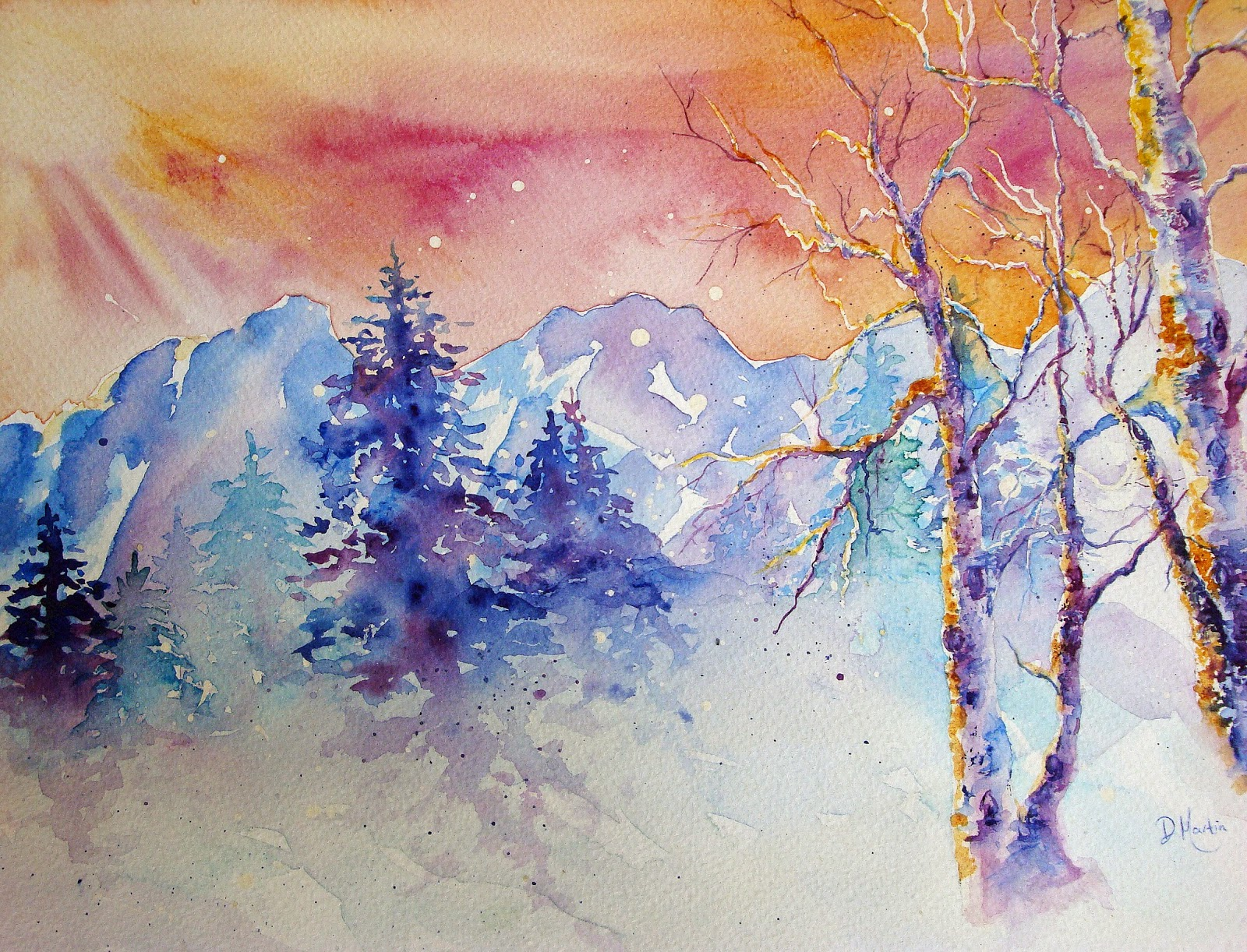 Cool watercolor landscapes images for Cool watercolour