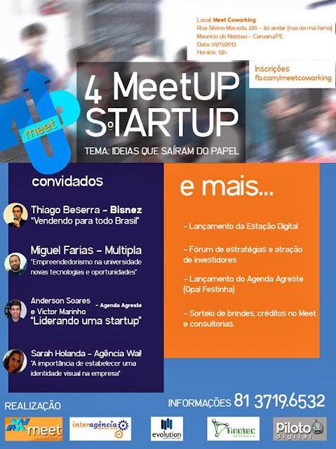 4ª edição do Meet UP realizada no MeetCoWorking em Caruaru