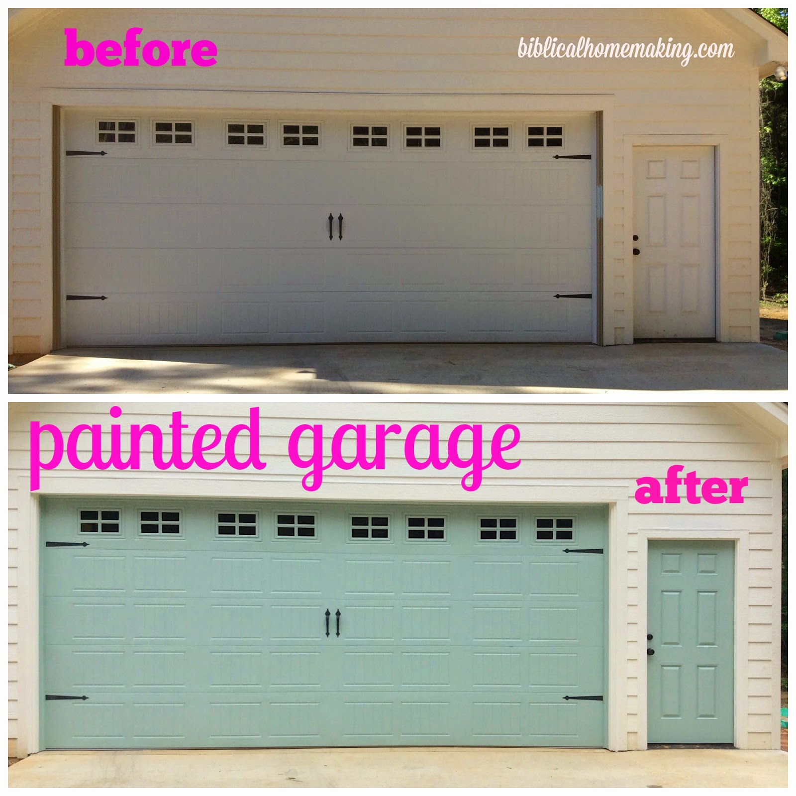 Project Curb Appeal Garage Door Before And After
