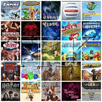 Collection of new games. Download 250 game for your Mobile (Java