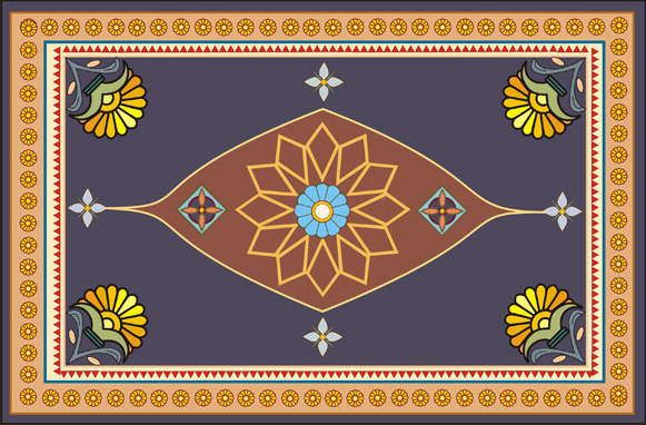 Neo Persian Empire Carpet Design