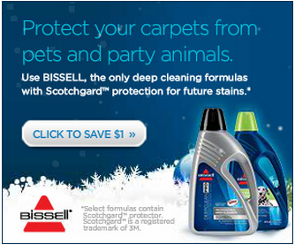 SAVE ON BISSELL: