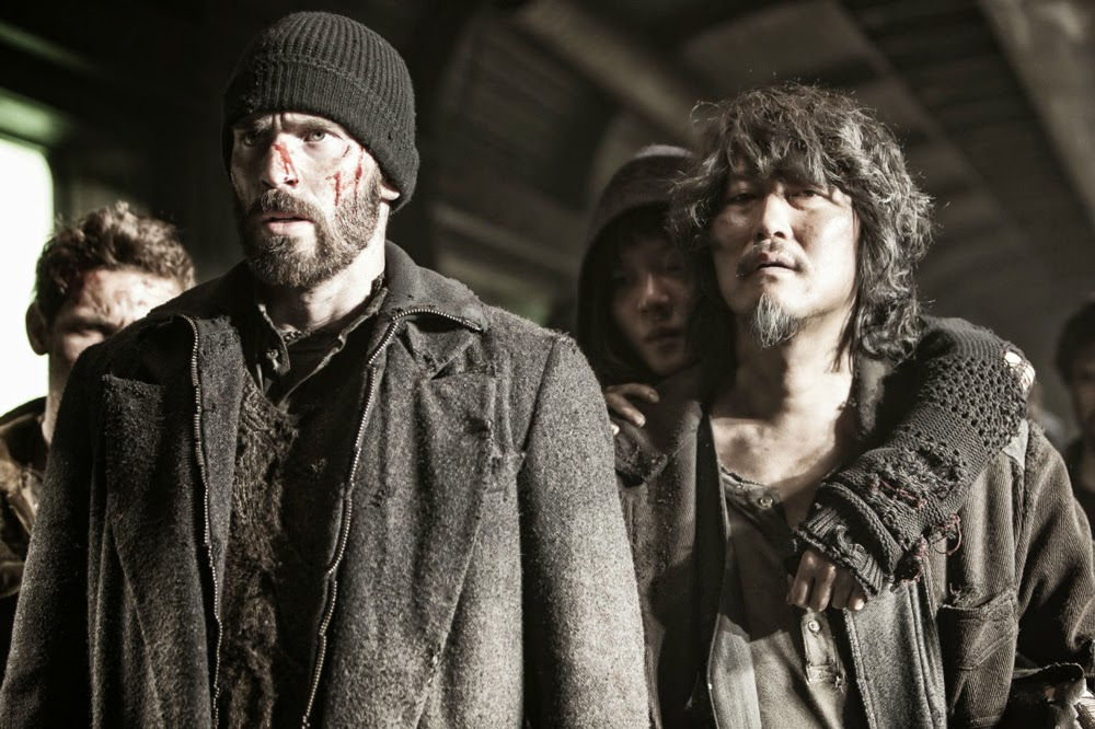 Chris Evans and Song Kang-Ho in Snowpiercer