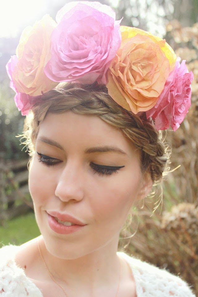 Coffee Filter Roses and Flower Crown DIY by Wear the Canvas