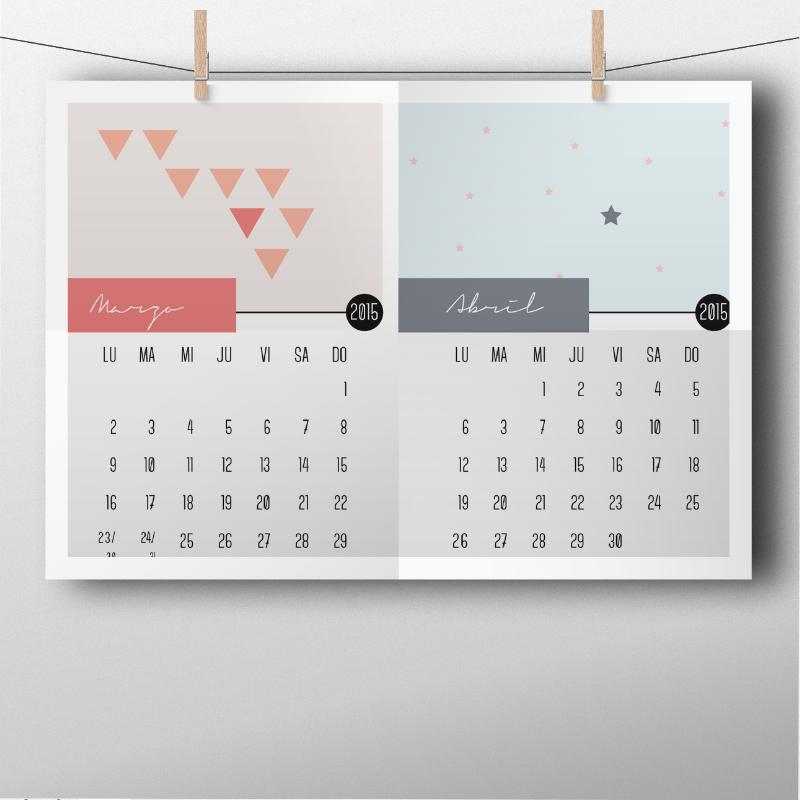 Calendario 2015 diseñado por Habitan2