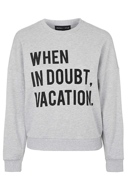 kendall kylie sweater, when in doubt vacation jumper,