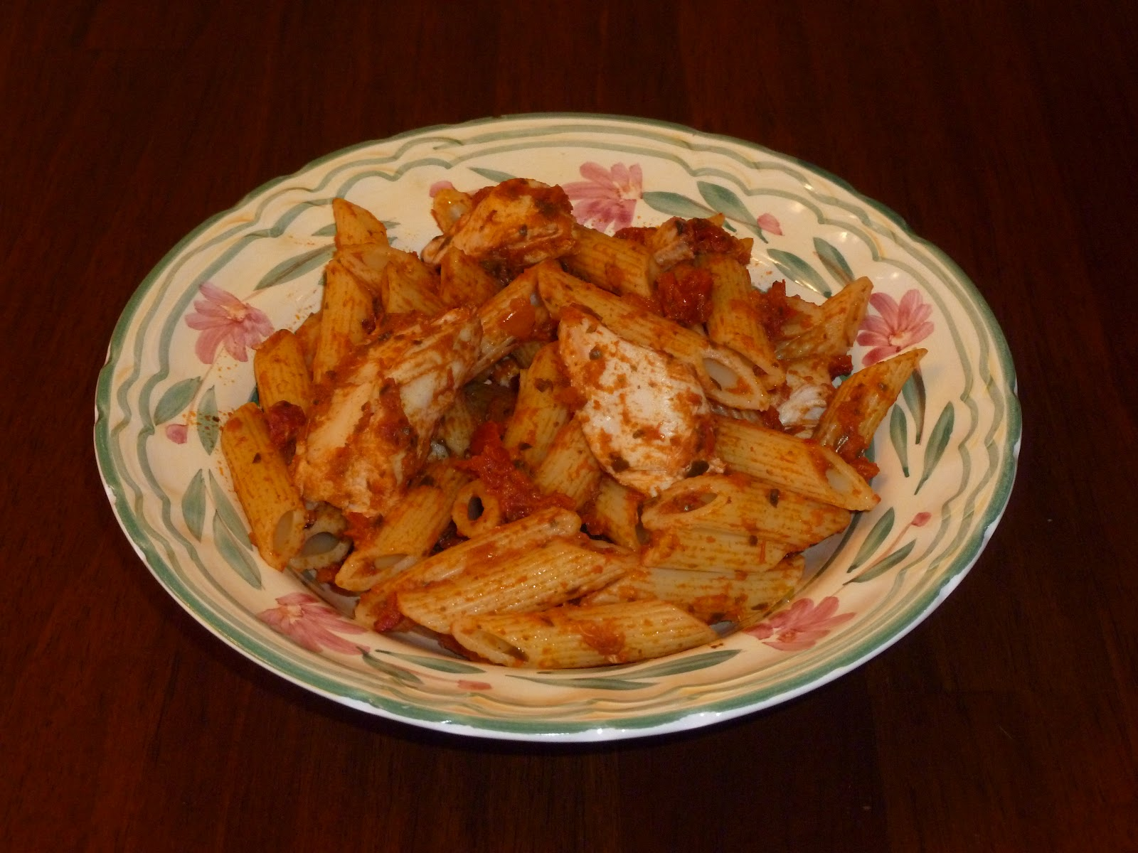... chicken (I just use leftover chicken & jarred pesto sauce), a salad
