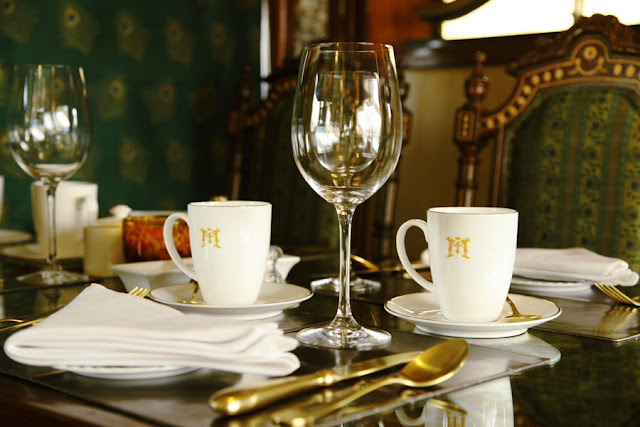 Fine Dining on board Maharajas Express