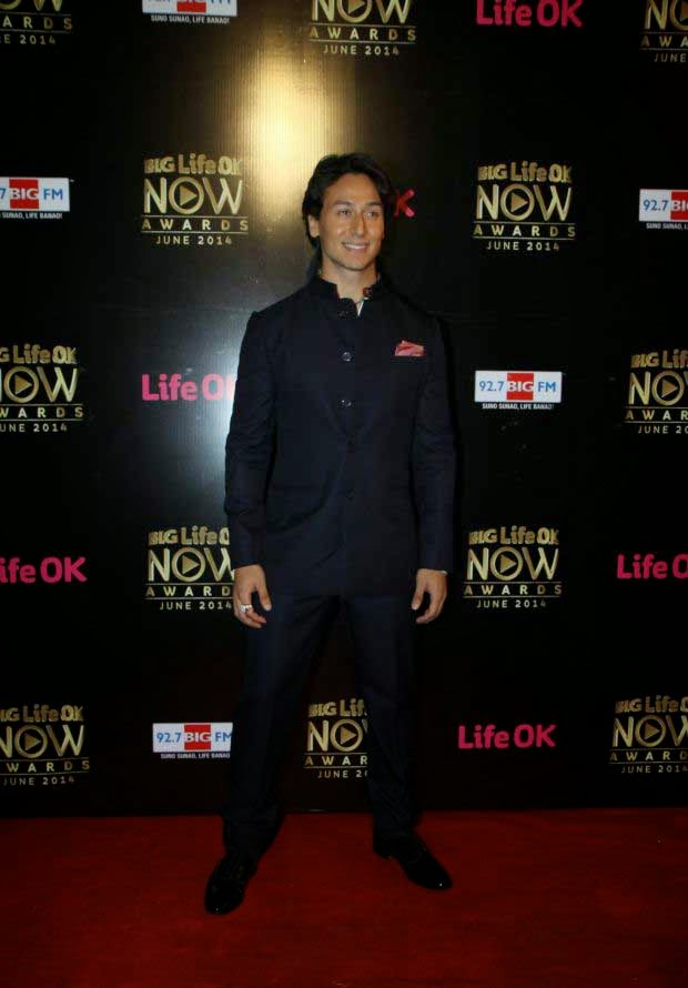 Tiger Shroff At Life Ok Now Awards 2014