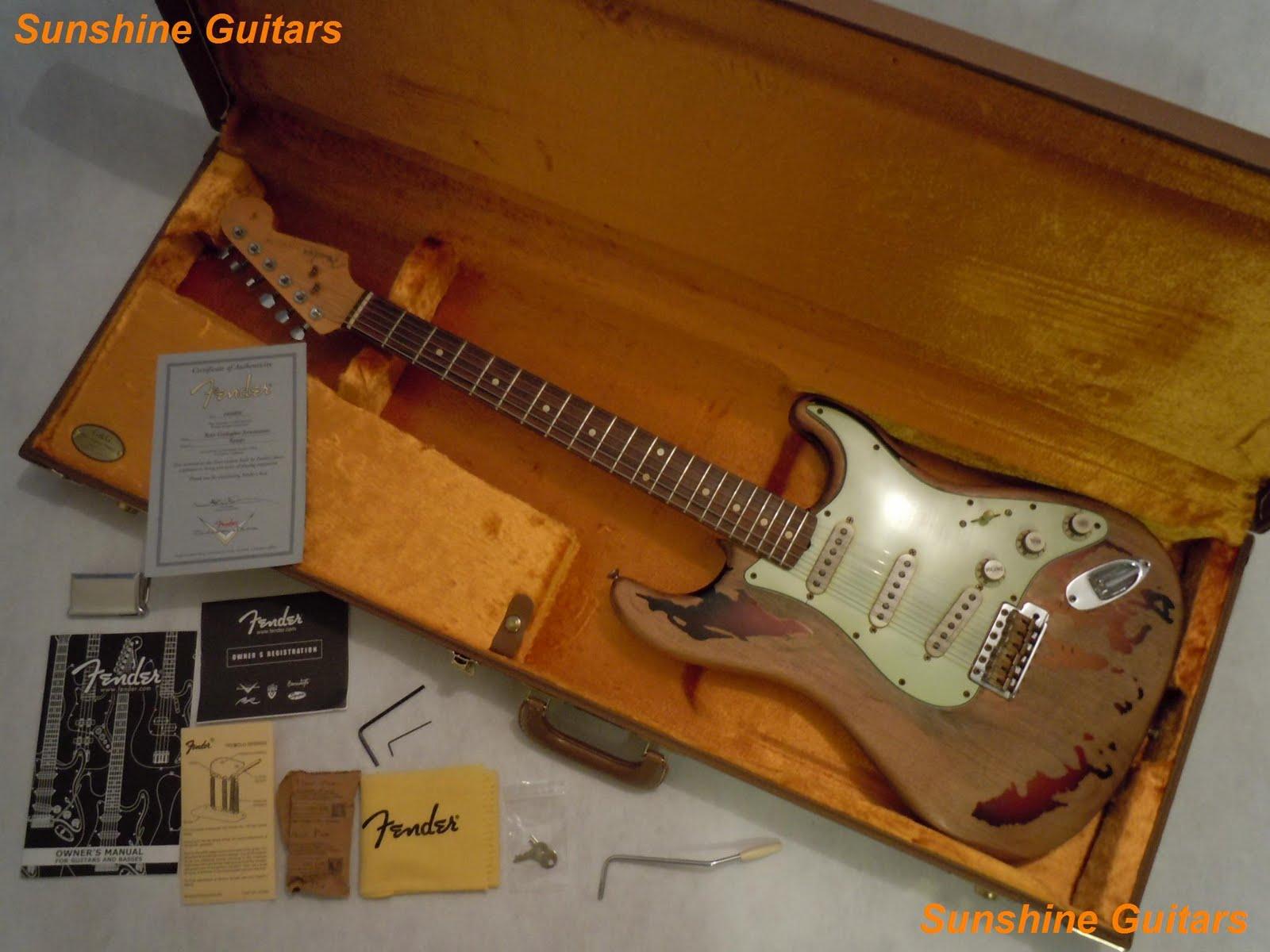 Eis a surrada guitarra Fender Stratocaster que Rory Gallagher usou durante toda a carreira!!!