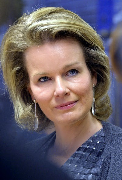 Queen Mathilde of Belgium visits a PAG-ASA, a shelter for victims of human trafficking