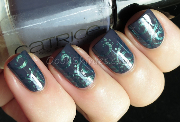 Catrice How I Matt Your Mother with China Glaze Deviantly Daring and Konad plate m64