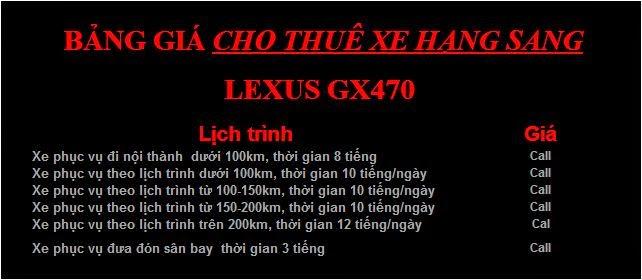 Cho thuê xe 7 chỗ VIP Lexus GX470 1