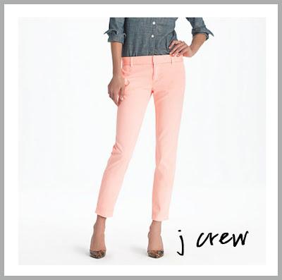 neon pink khaki pants