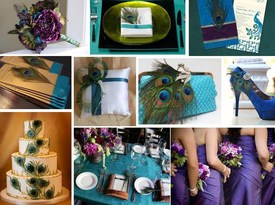 Shows just that a wedding with style a peacock themed wedding