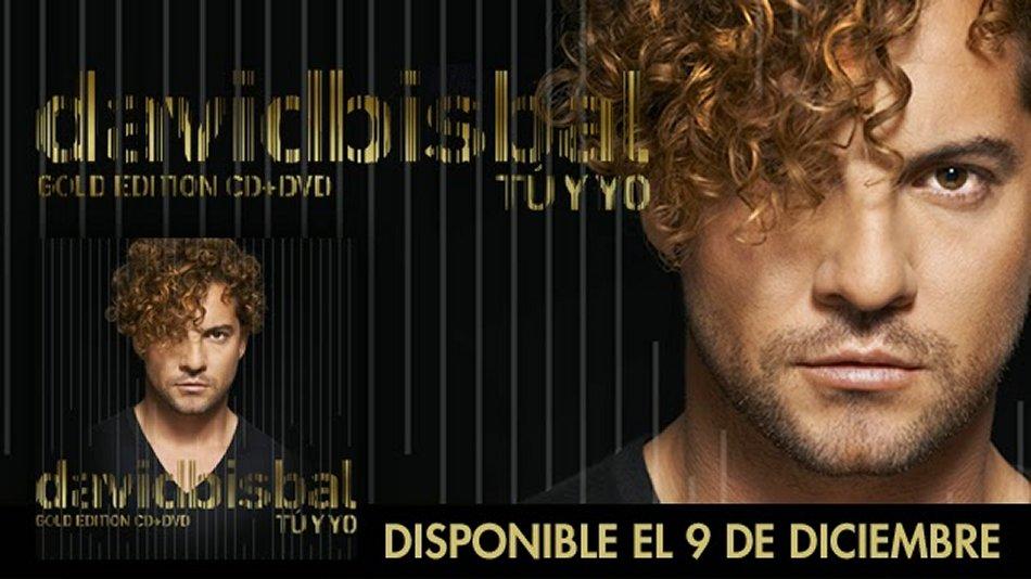 David Bisbal Tu y Yo Gold Edition, 9 de diciembre a la venta