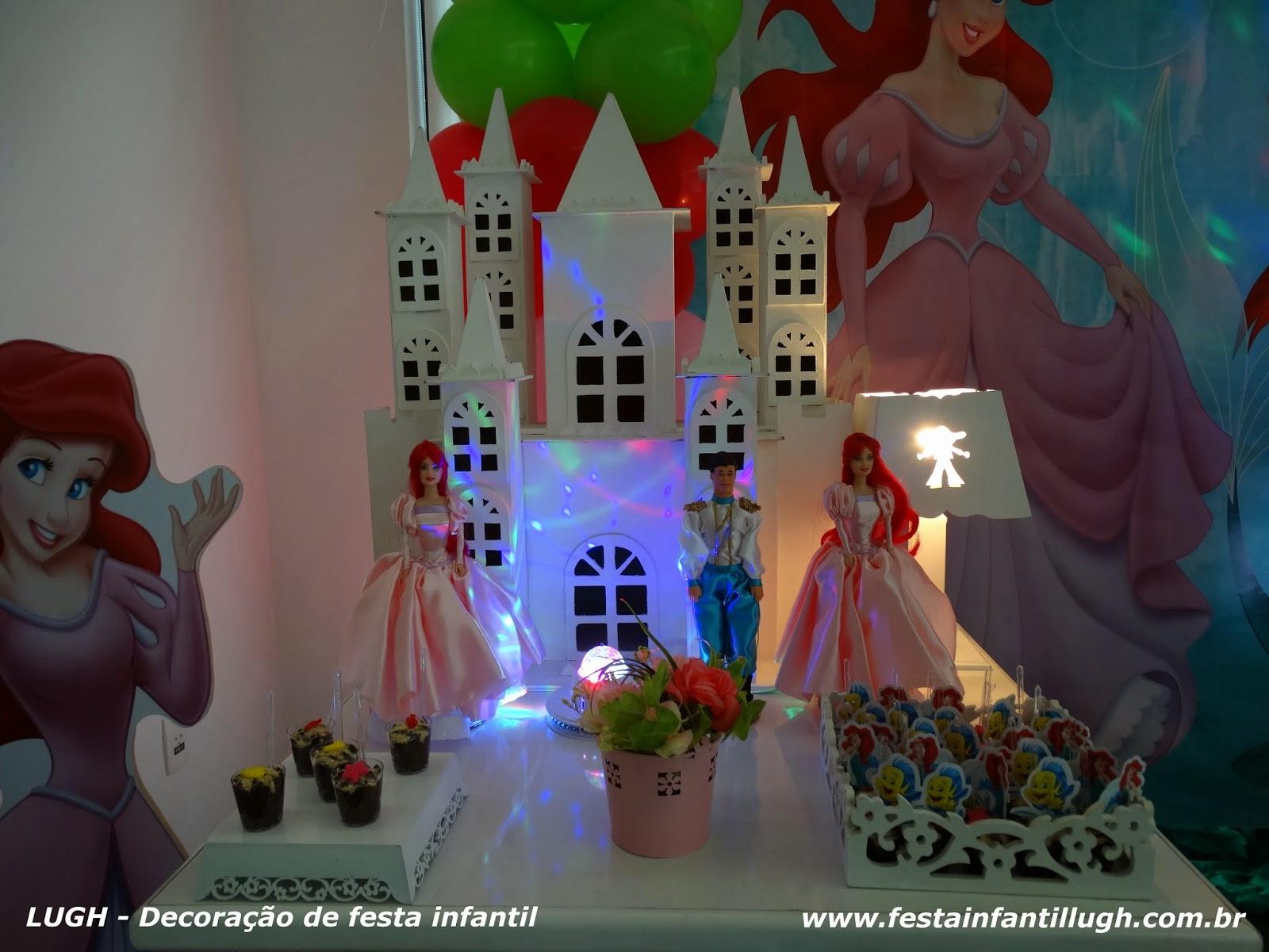 Tema Ariel para festa de aniversário infantil