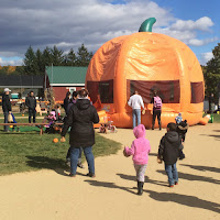 Pumpkin Jack-o-lantern Bounce House Riverview Farms Glastonbury CT New England Fall Events