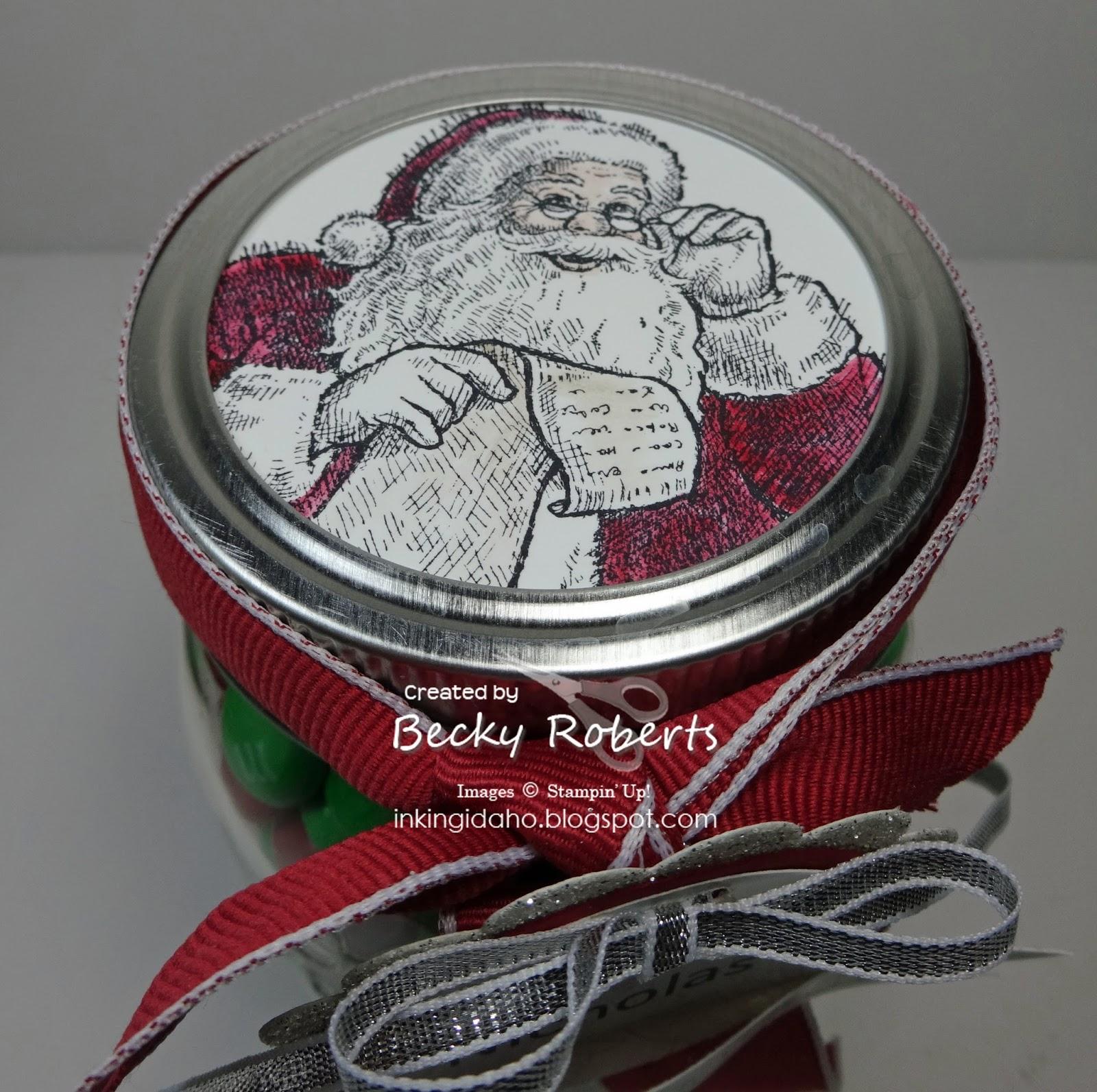 Inking Idaho: Mason Jar Money From Santa