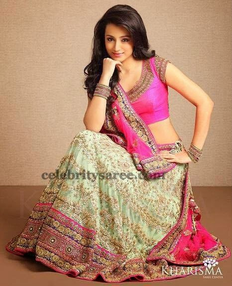 Trisha Cream Color Lehenga