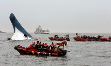 Picture At Least 295 Missing as Ferry Sinks off the Coast of South Korea