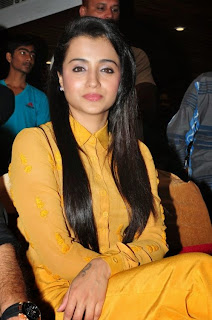 Trisha Cute Smiling Beauty at Cheekati Rajyam first look launch