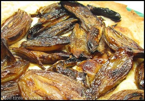 tarte fine aux échalotes